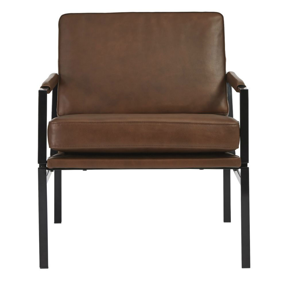 Puckman Accent Chair - Brown - Front