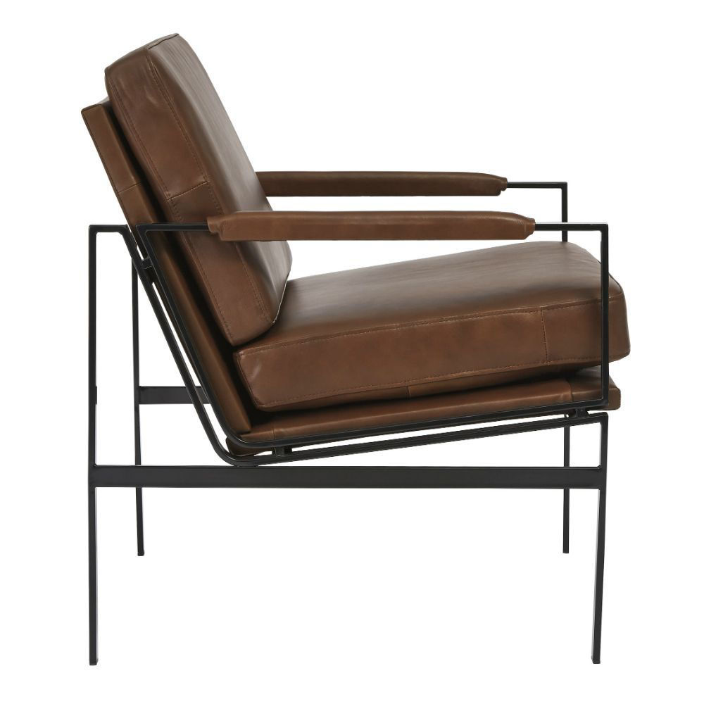 Puckman Accent Chair - Brown - Side
