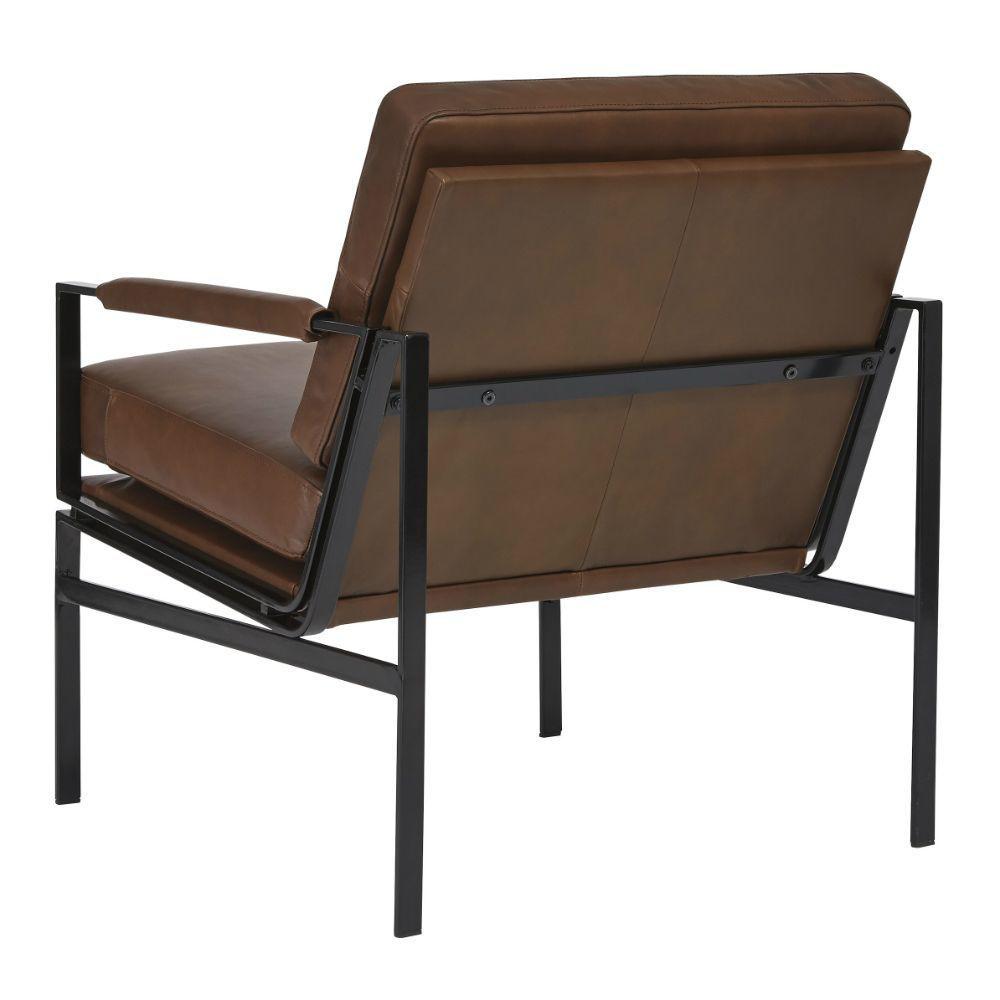 Puckman Accent Chair - Brown - Rear