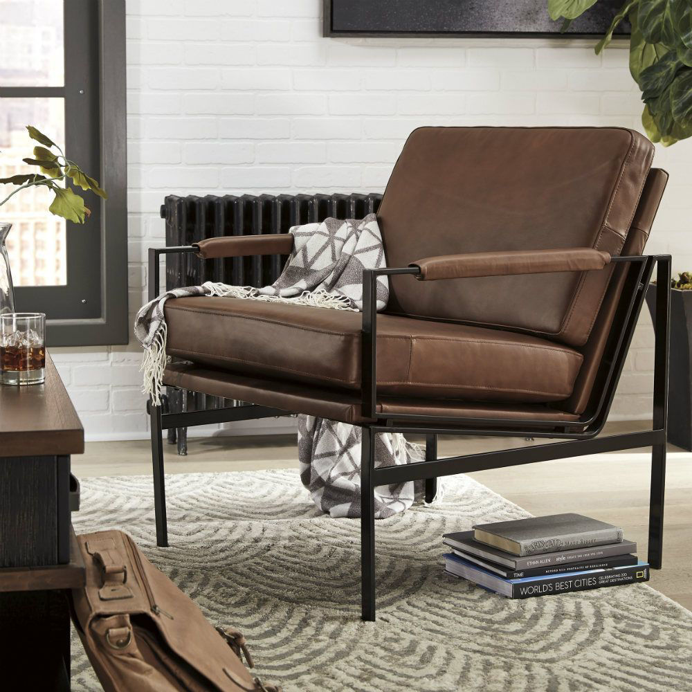 Puckman Accent Chair - Brown - Lifestyle