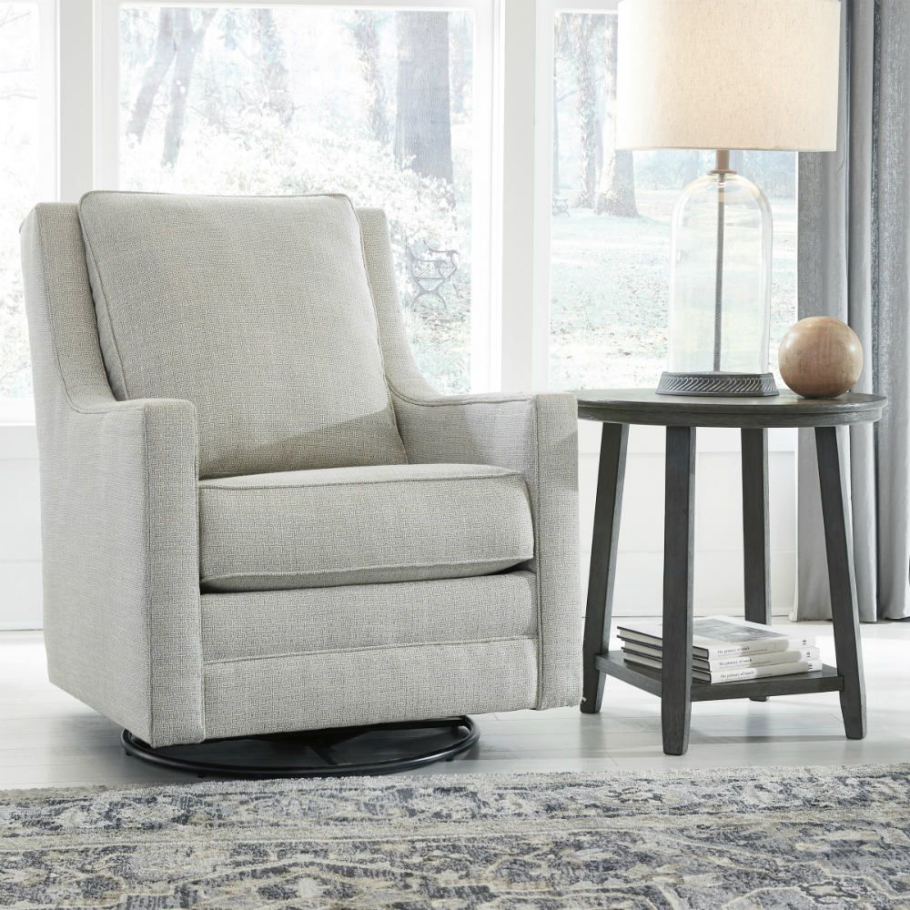 Kambria Swivel Gliding Chair - Frost - Lifestyle