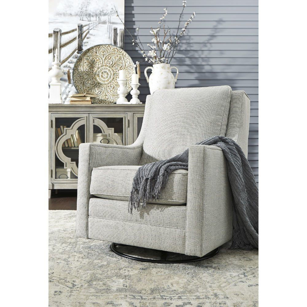 Kambria Swivel Gliding Chair - Frost - Mood