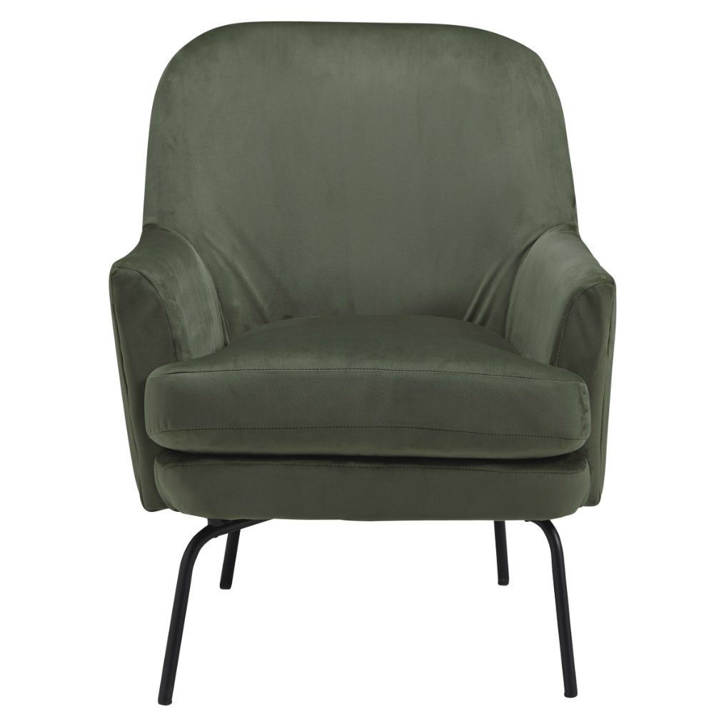 Dericka Accent Chair - Moss - Front