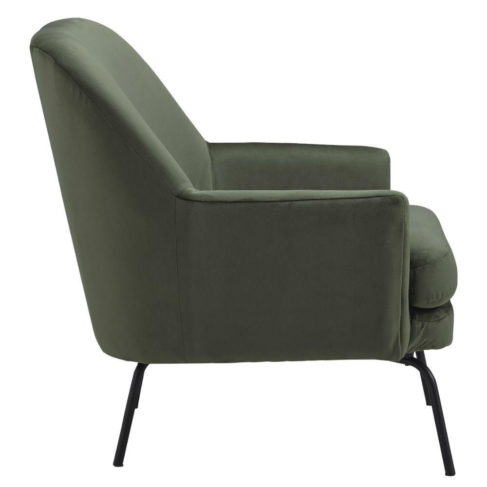 Dericka Accent Chair - Moss - Side