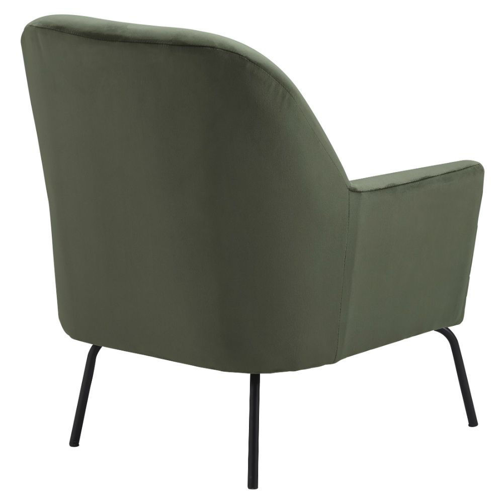 Dericka Accent Chair - Moss - Rear