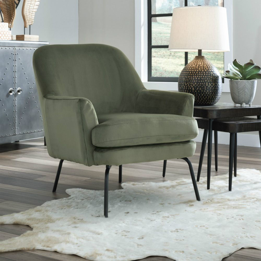 Dericka Accent Chair - Moss - Lifestyle