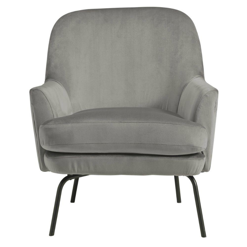 Dericka Accent Chair - Steel - Front