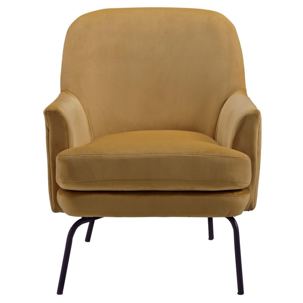 Dericka Accent Chair - Gold - Front