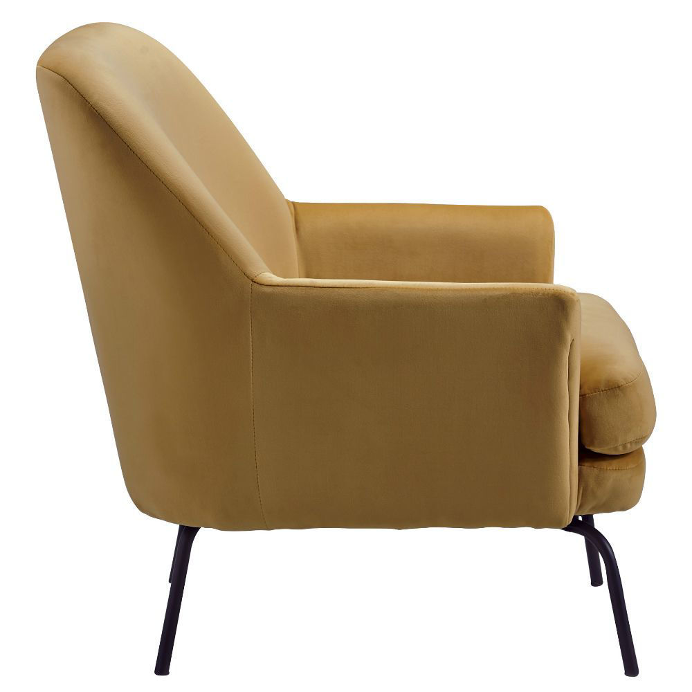 Dericka Accent Chair - Gold - Side