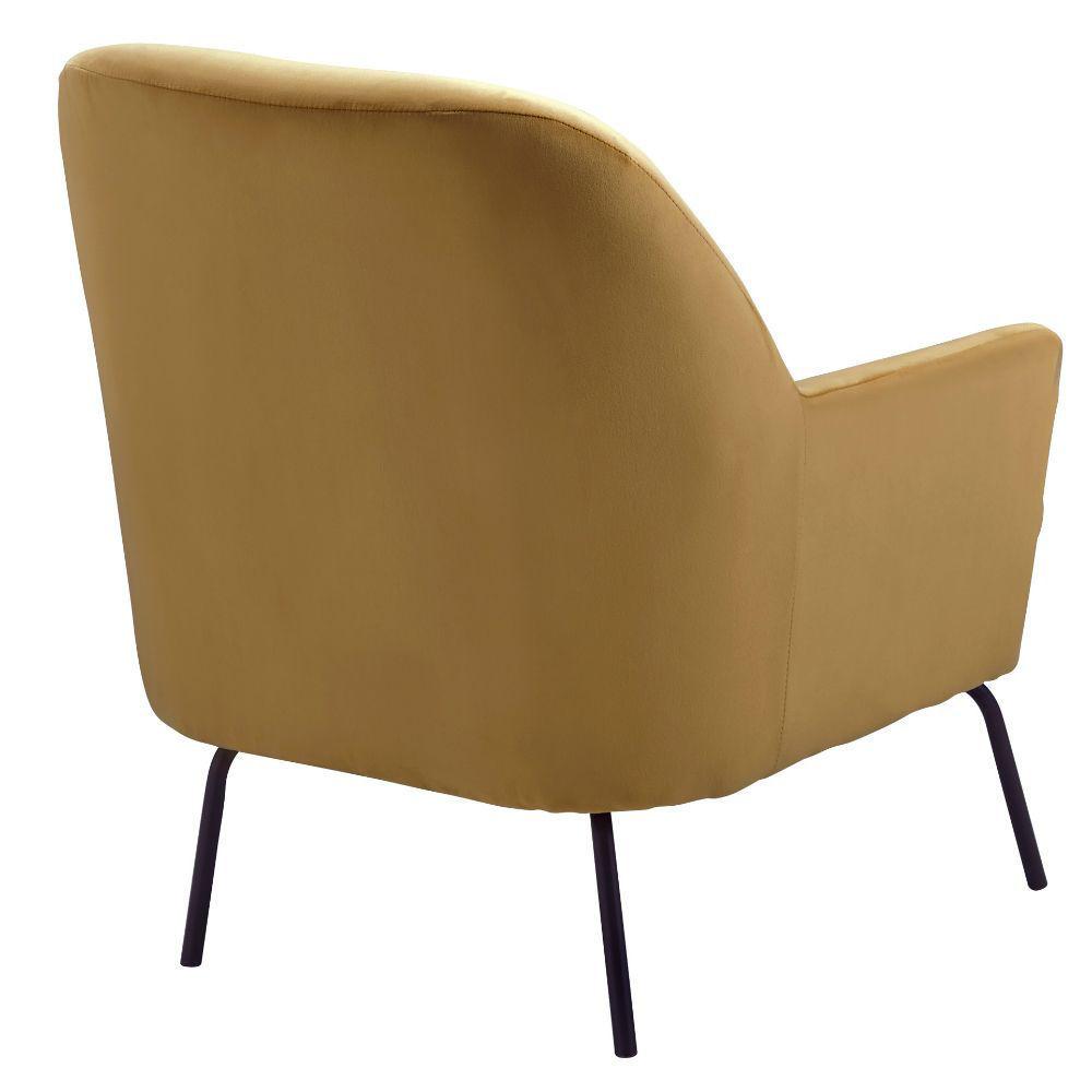 Dericka Accent Chair - Gold - Rear