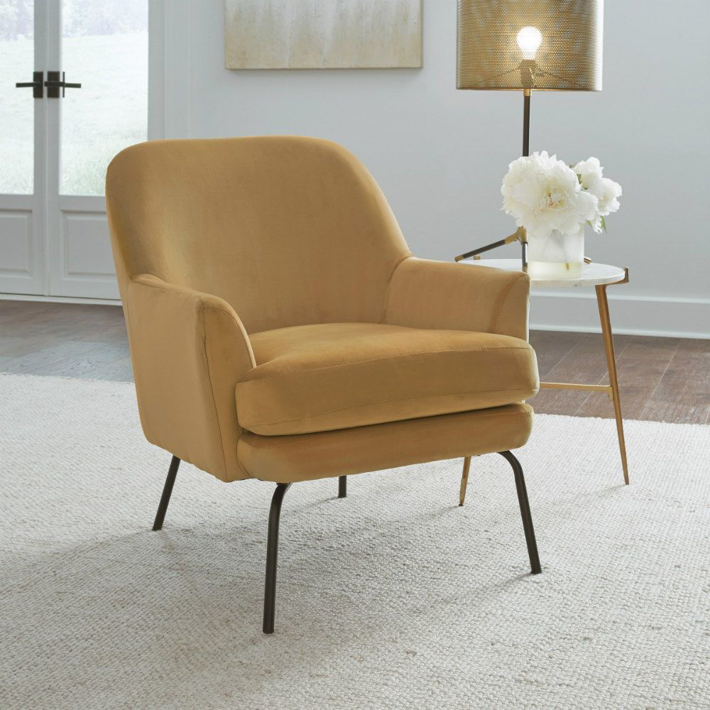 Dericka Accent Chair - Gold - Lifestyle