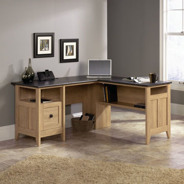 August Hill L-Desk Dover Oak