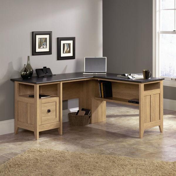 August Hill L-Desk Dover Oak