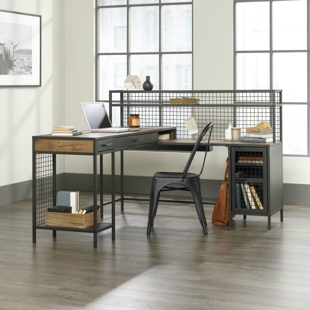 Boulevard Cafe L-Shaped Desk - Chair