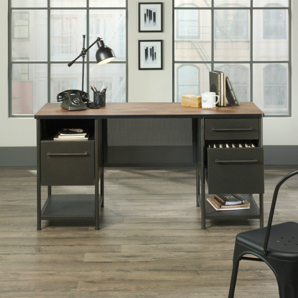 Boulevard Cafe Executive Desk - Open Drawer