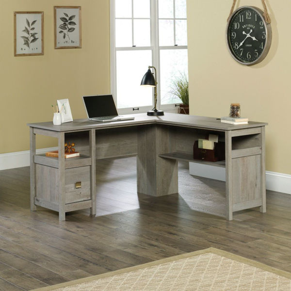 Cannery Bridge L-Desk - Mystic Oak