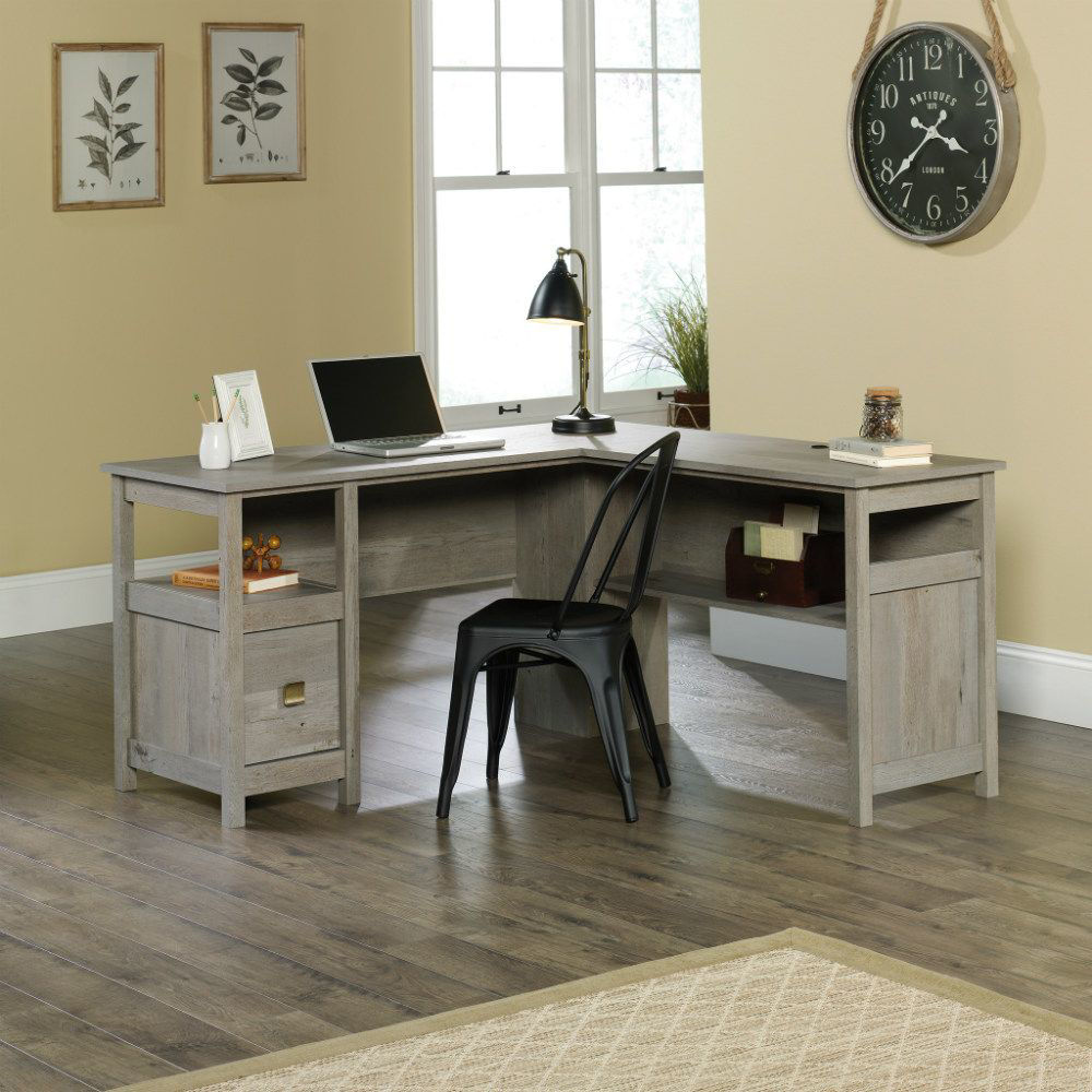 Picture of Cannery Bridge L-Desk - Mystic Oak
