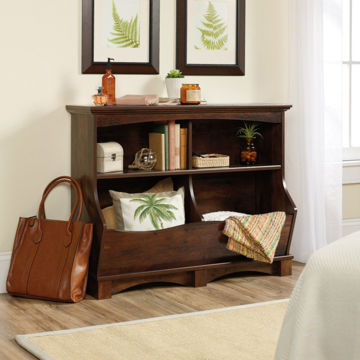 Harbor View Bin Bookcase - Cherry
