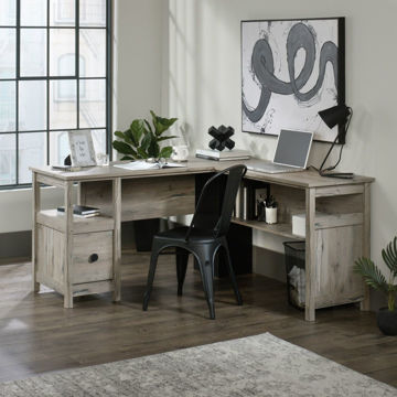 Linden Market L-Desk - Split Oak