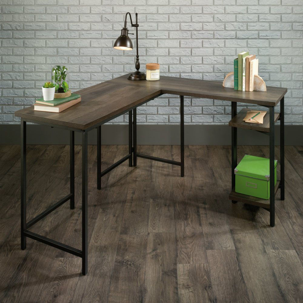 North Avenue L-Desk - Smoked Oak