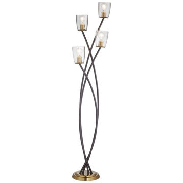 Kathy Ireland Half Moon Uplight Floor Lamp