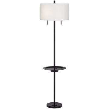 Troy Metal Floor Lamp w/Table