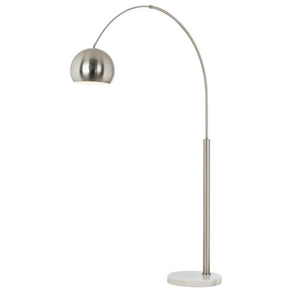 Basque Floor Arc Lamp - Nickel