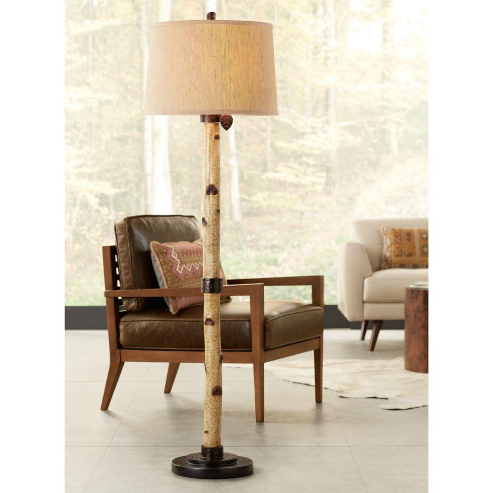 Birch Tree Floor Lamp - Lifestyle