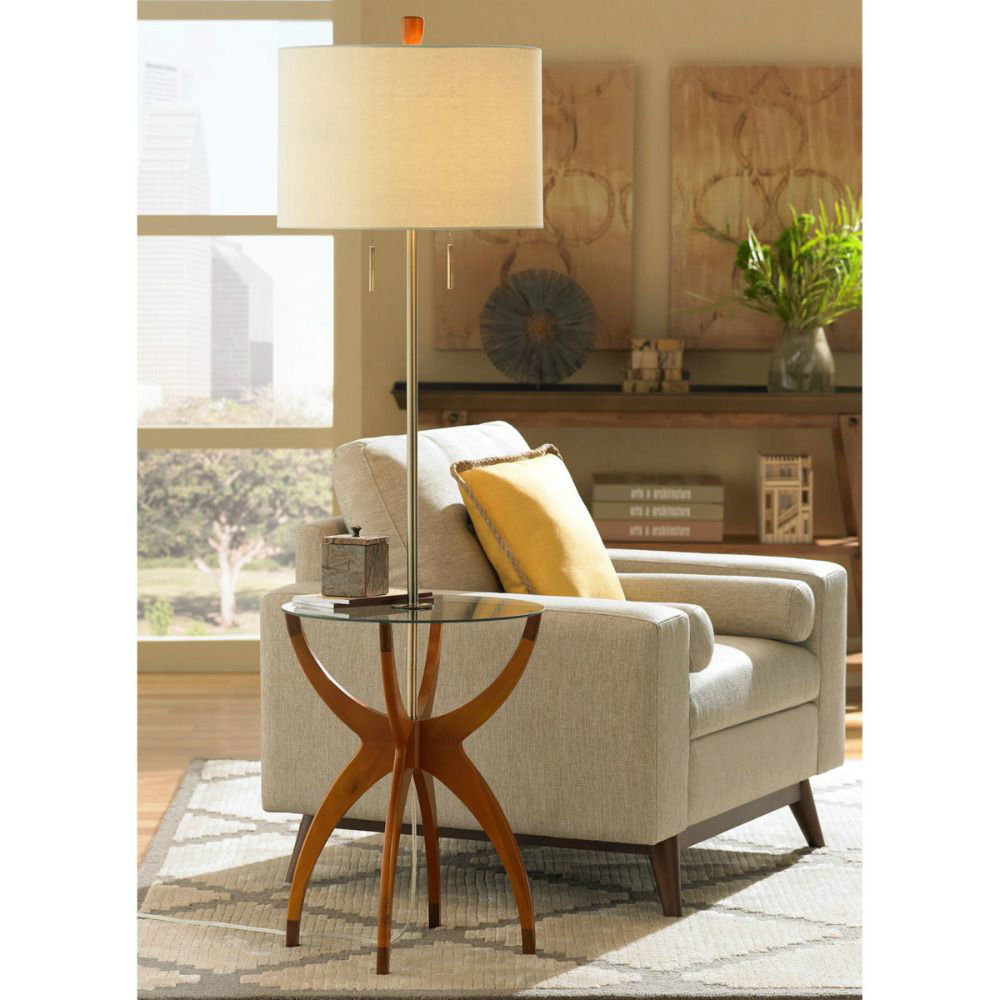 Vanguard Floor Lamp with Table - Lifestyle
