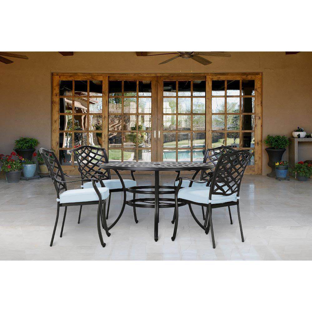 Halsey 5-Piece Outdoor Dining Set - Lifestyle