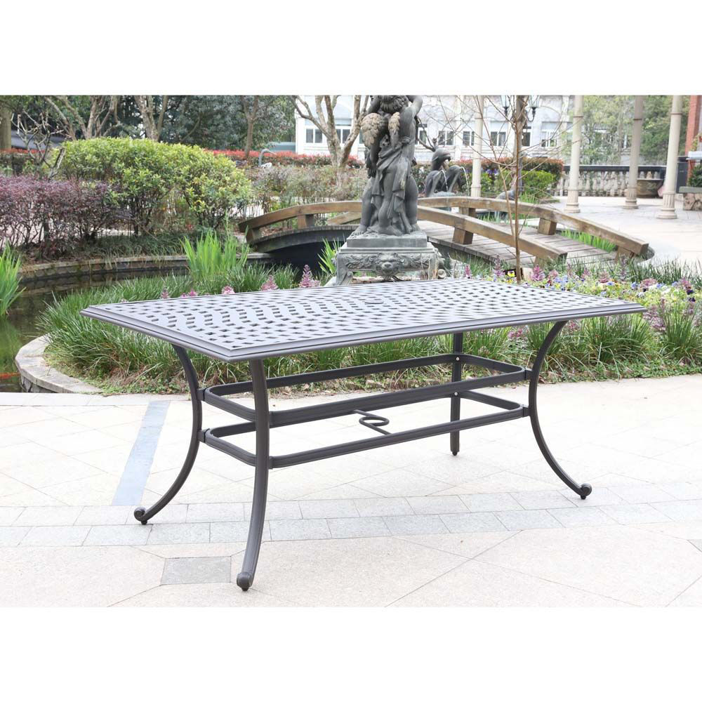 Paseo Outdoor Rectangular Dining Table - Lifestyle