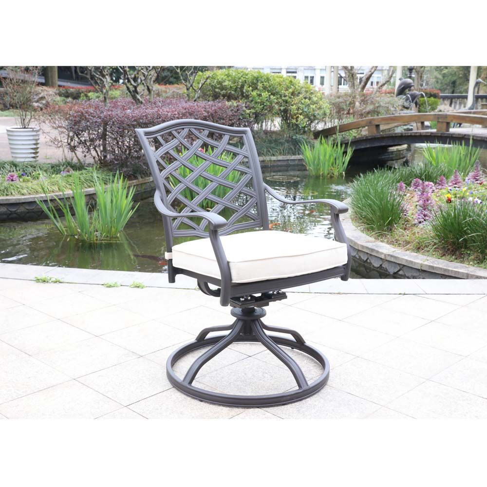 Paseo Outdoor Dining Swivel Chair - Lifestyle