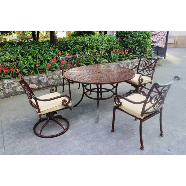 Santa Rosa 5-Piece Dining Table and Arm Chairs