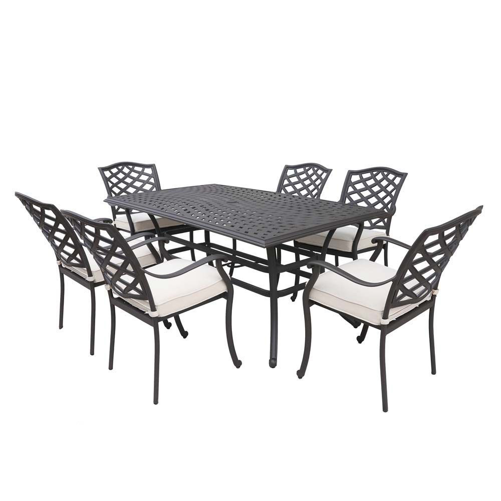 Paseo 7-Piece Outdoor Dining Set With Arm Chairs