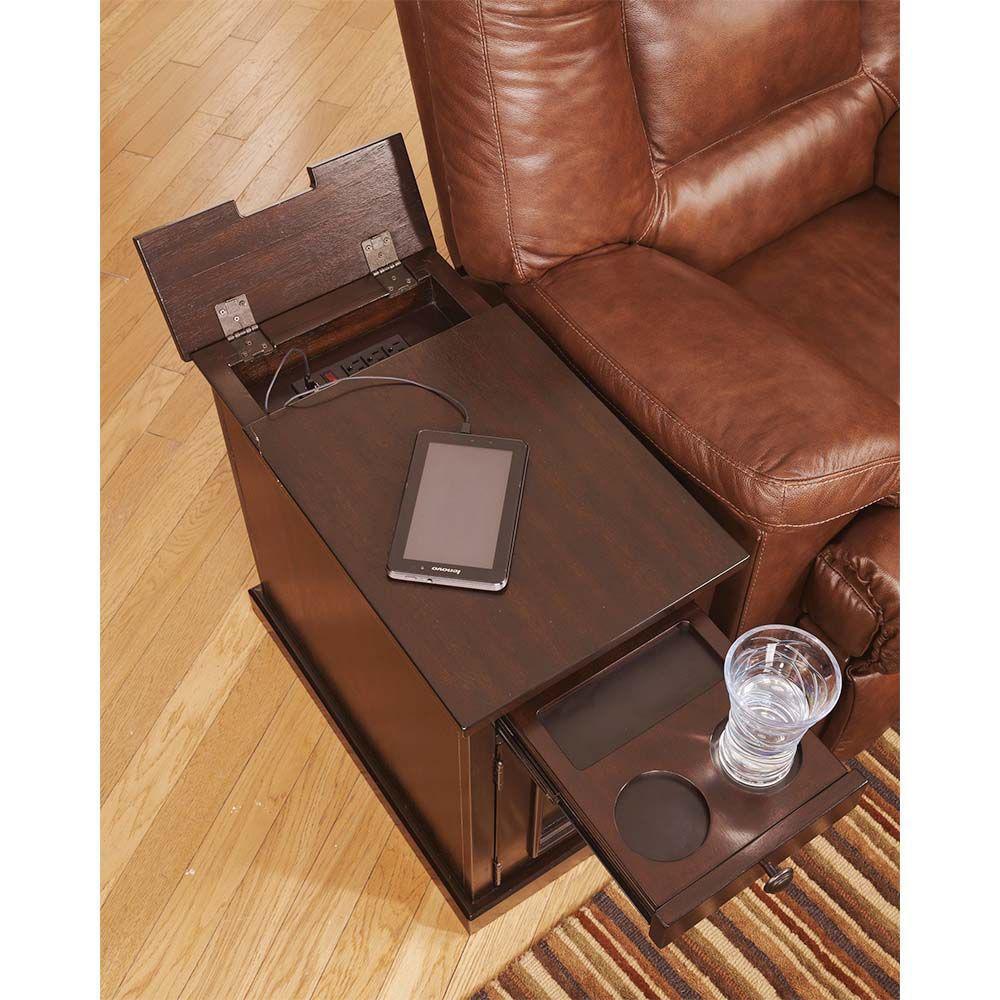 Laflorn Chair Side Table - Sable - alt
