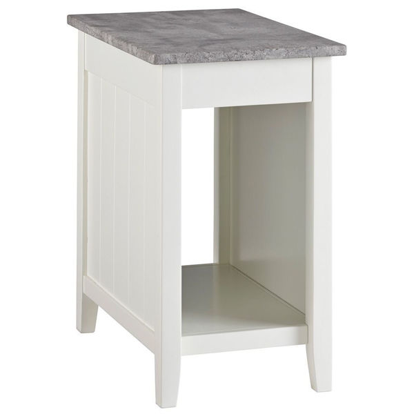 Diamenton Chair Side End Table - White