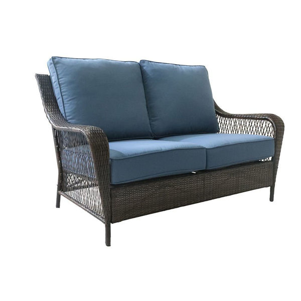 Reno Outdoor Wicker Loveseat With Cushions