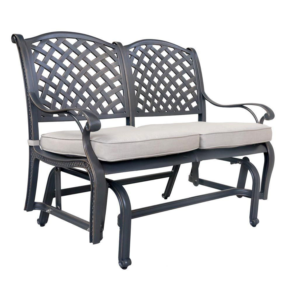 Silver Outdoor Bench Glider