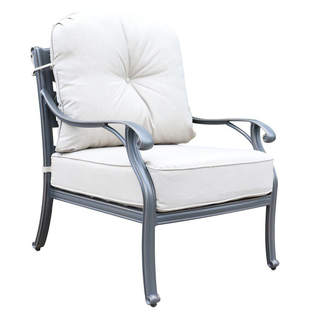 Silver Outdoor Club Chair