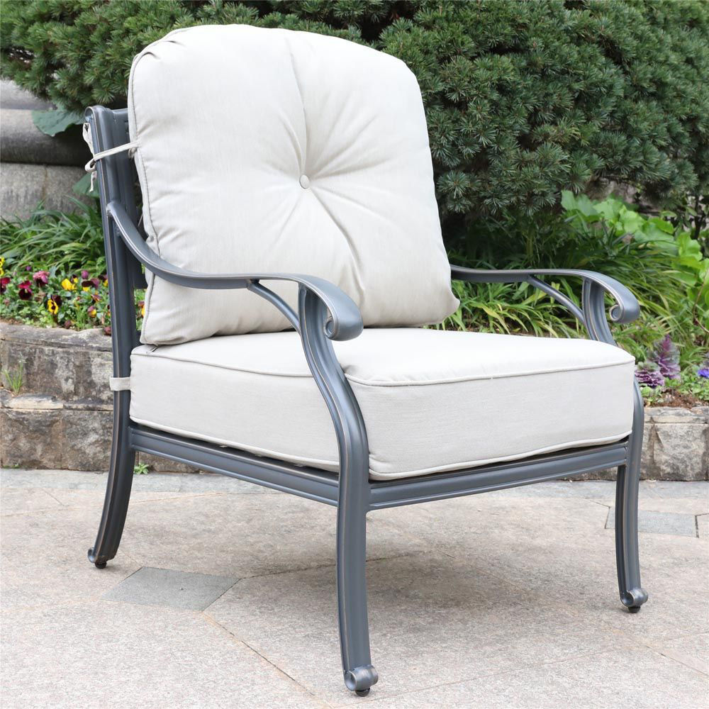 Silver Outdoor Club Chair - Lifestyle