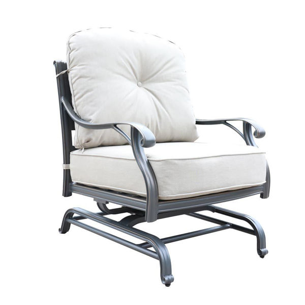 Silver Outdoor Motion Club Chair