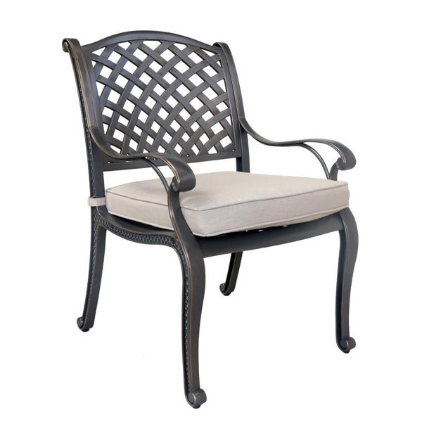 Silver Outdoor Dining Arm Chair