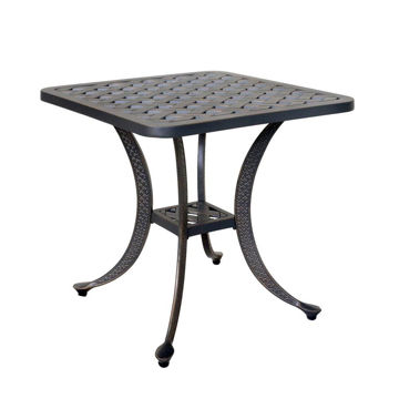 Silver Outdoor End Table