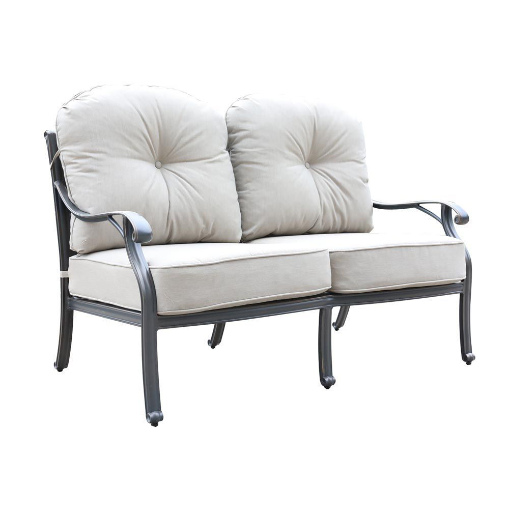 Silver Outdoor Loveseat