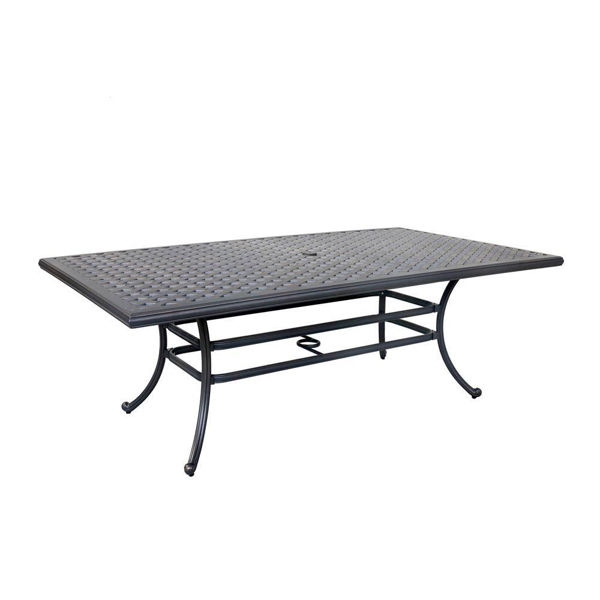 Silver Outdoor Rectangular Dining Table