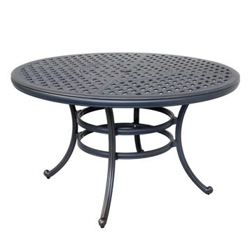 Silver Outdoor Round Dining Table