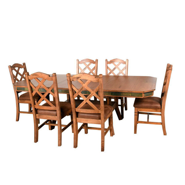 Sedona 7-Piece Dining With Six Double Crossback Chair