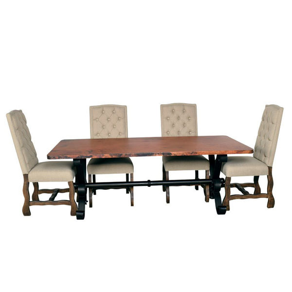 "Picture of Copper 84"" Top Dining Table"
