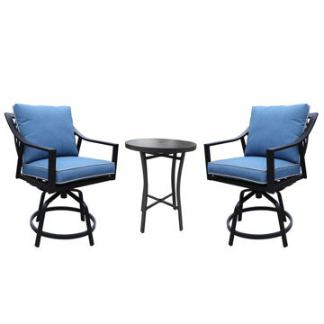 Geneva Outdoor 3-Piece Bar Set