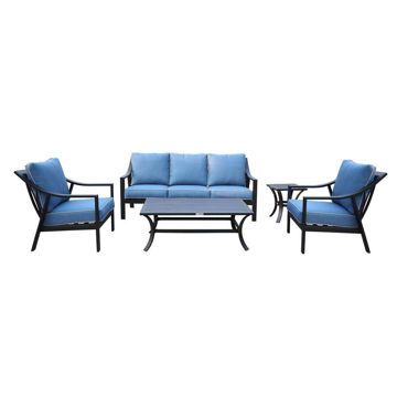 Geneva Outdoor 5-Piece Deep Seating Set